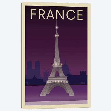 Eiffel Tower Canvas Print #INC2} by Incado Canvas Art