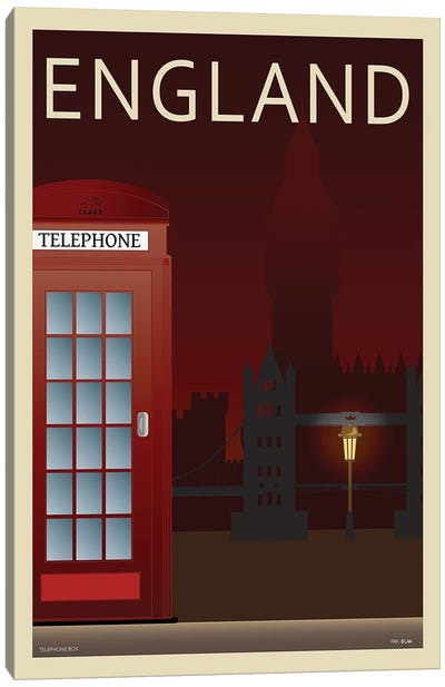 Telephone Box Canvas Art Print