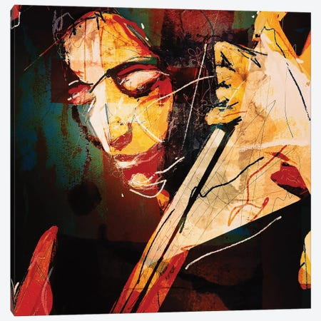 Esperanza Spalding Canvas Print #INK11} by inkycubans Canvas Art Print