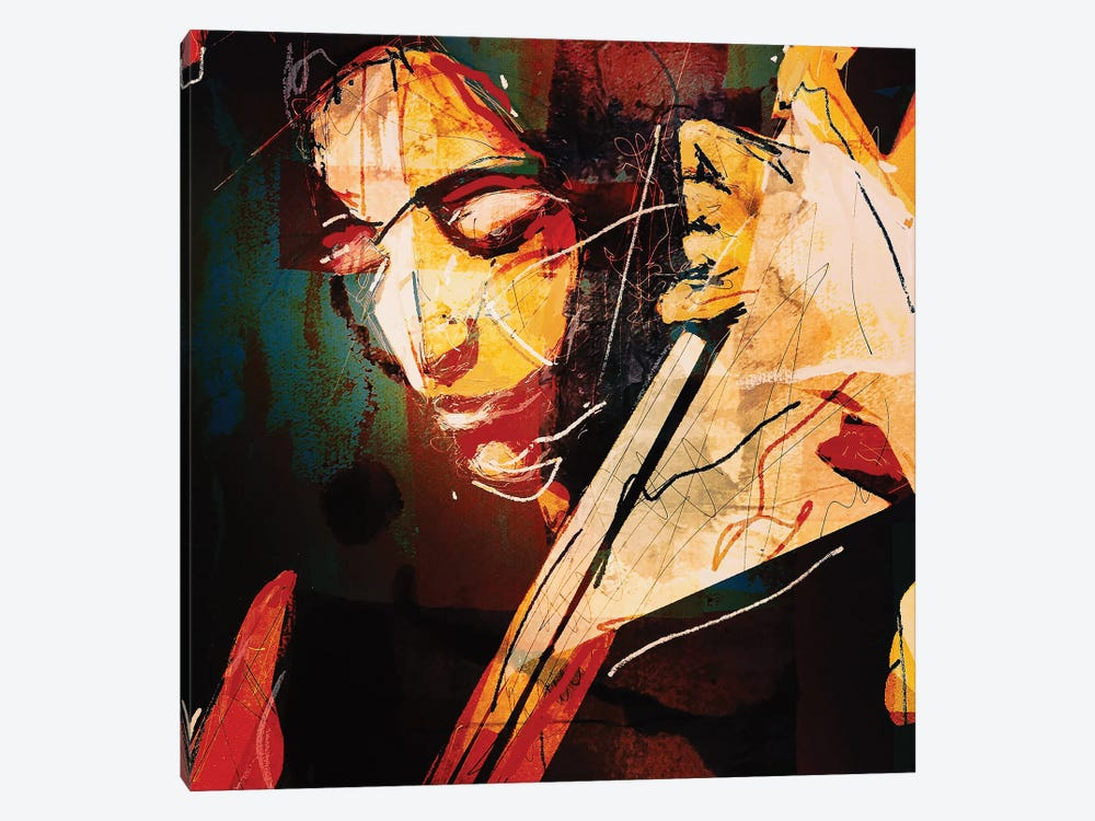 Esperanza Spalding by inkycubans 1-piece Canvas Art Print