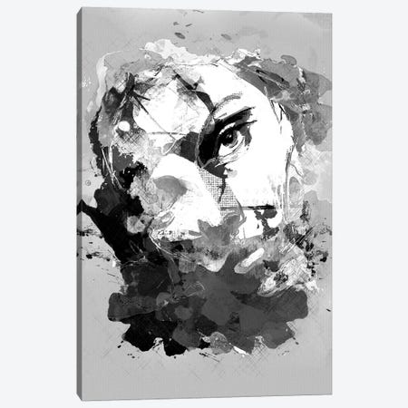 Jasmine No. 3, B&W Canvas Print #INK18} by inkycubans Canvas Art Print