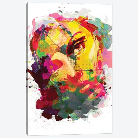 Jasmine No. 3, Color Canvas Print #INK19} by inkycubans Art Print
