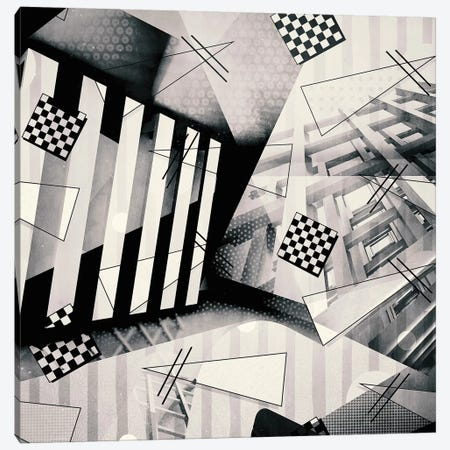 Miami Vice Vs. Bauhaus No. 3, B&W Canvas Print #INK22} by inkycubans Canvas Art
