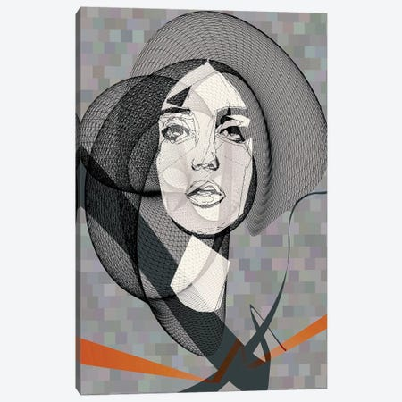 She Canvas Print #INK25} by inkycubans Art Print