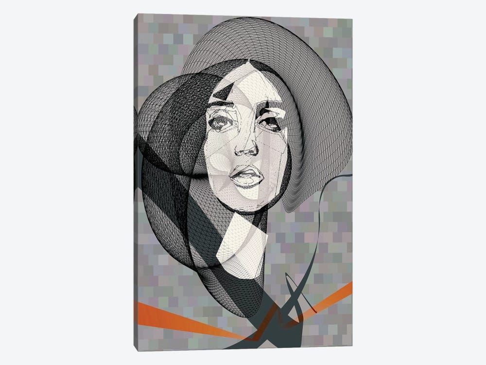 She by inkycubans 1-piece Canvas Artwork
