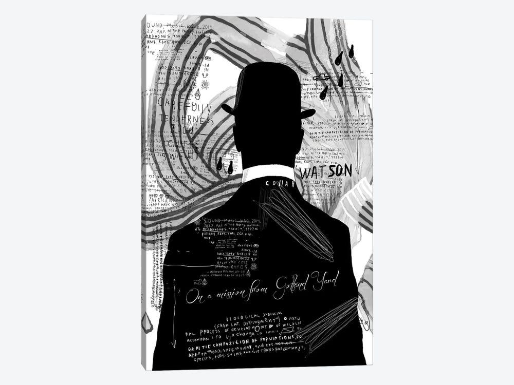 Watson, B&W by inkycubans 1-piece Art Print