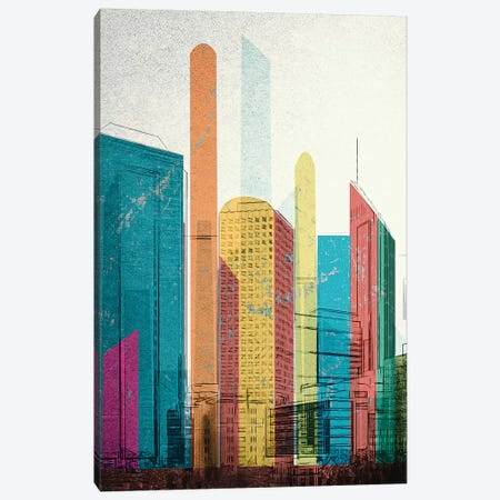 Cityscrapers I Canvas Print #INK30} by inkycubans Canvas Print