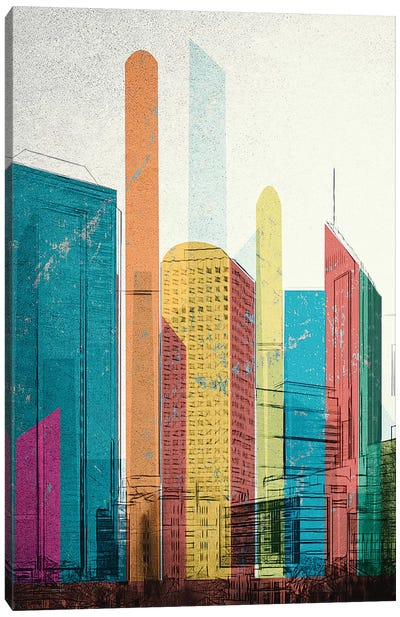 Cityscrapers I Canvas Art Print