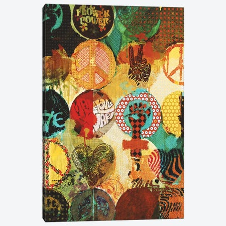 Peace Canvas Print #INK34} by inkycubans Canvas Art