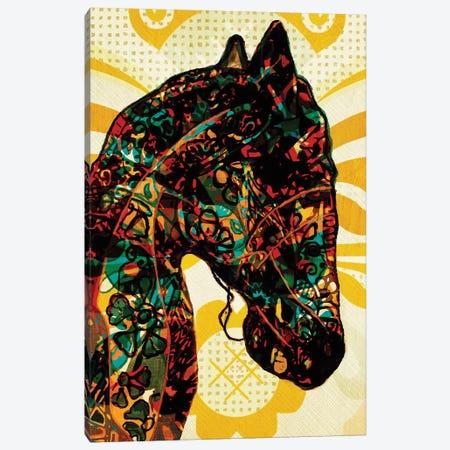 Horse Graffiti Canvas Print #INK40} by inkycubans Canvas Artwork