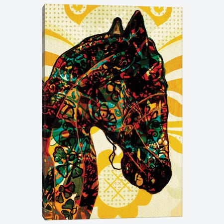 Horse Graffiti Canvas Print #INK40} by inkycubans Canvas Artwork