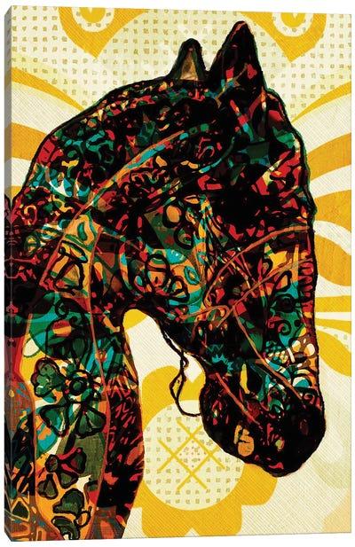 Horse Graffiti Canvas Art Print