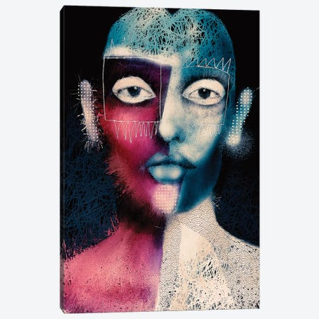 Odd Bob Canvas Print #INK41} by inkycubans Canvas Wall Art