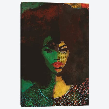 Woman In Black Canvas Print #INK43} by inkycubans Canvas Artwork