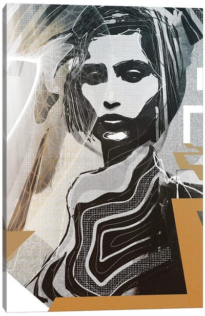 Golden Girl Canvas Art Print