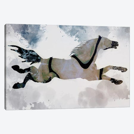 Horse Canvas Print #INK54} by inkycubans Canvas Art