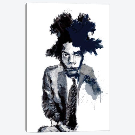 Basquiat I Canvas Print #INK5} by inkycubans Art Print