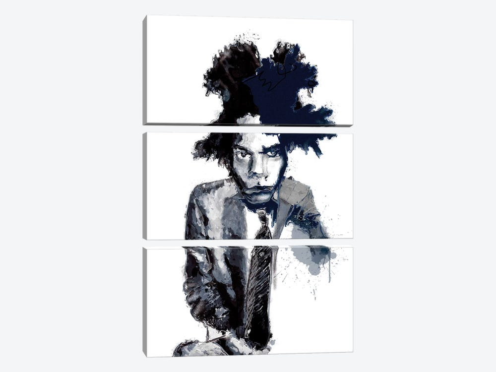 Basquiat I by inkycubans 3-piece Canvas Print