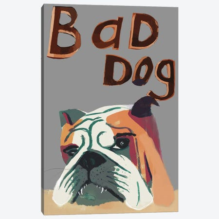 Bad Dog Canvas Print #INK66} by inkycubans Canvas Art Print