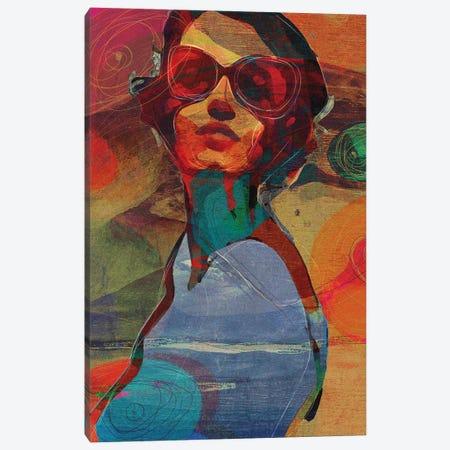 Sunny Look Canvas Print #INK67} by inkycubans Canvas Art Print
