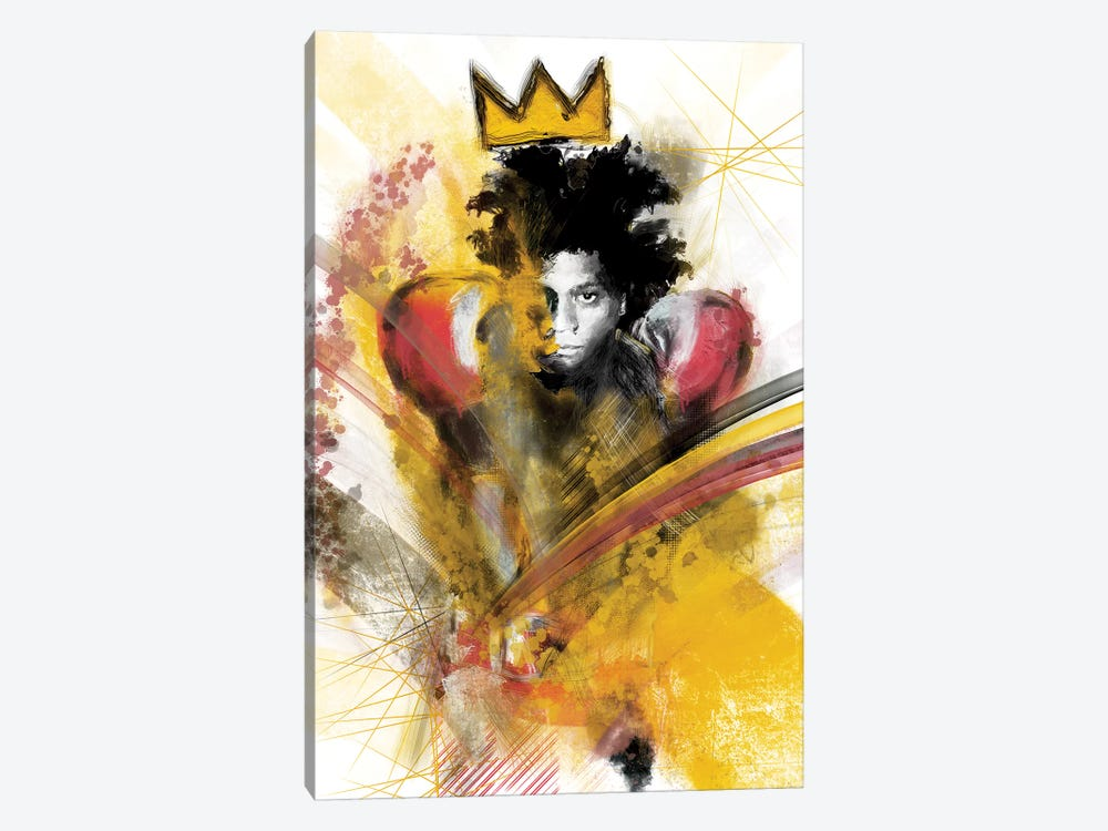 Basquiat II by inkycubans 1-piece Canvas Artwork