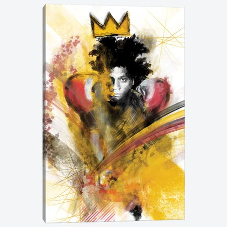 Basquiat II Canvas Print #INK6} by inkycubans Canvas Art Print