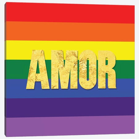Pride For Amor Canvas Print #INP1} by 5by5collective Canvas Artwork