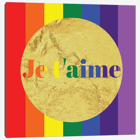 Pride For Je t'aime Canvas Print #INP2} by 5by5collective Canvas Art