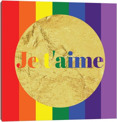Pride For Je t'aime Canvas Art Print