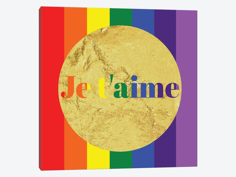 Pride For Je t'aime by 5by5collective 1-piece Canvas Art Print