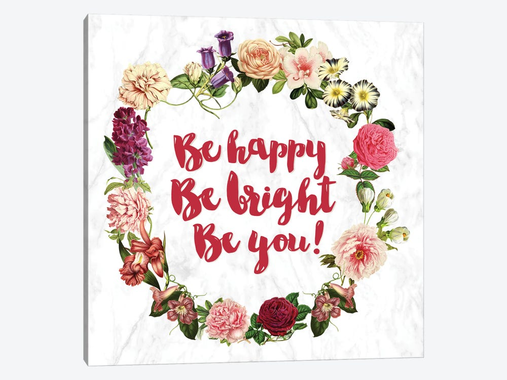 Be Happy… by 5by5collective 1-piece Canvas Art Print