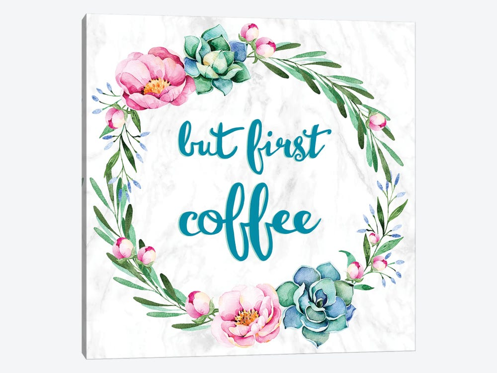 But First, Coffee by 5by5collective 1-piece Canvas Wall Art