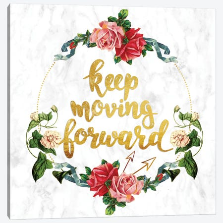 Keep Moving Forward Canvas Print #INW3} by 5by5collective Art Print