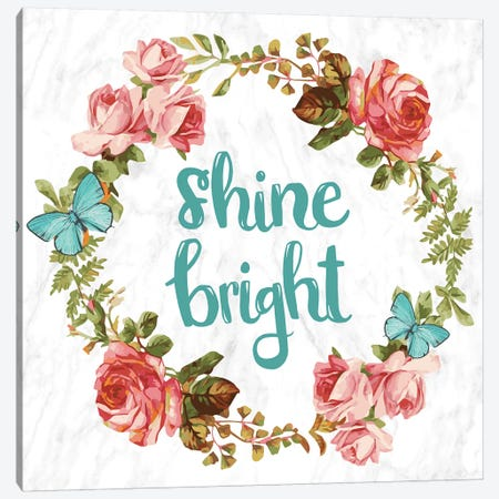 Shine Bright Canvas Print #INW5} by 5by5collective Canvas Wall Art