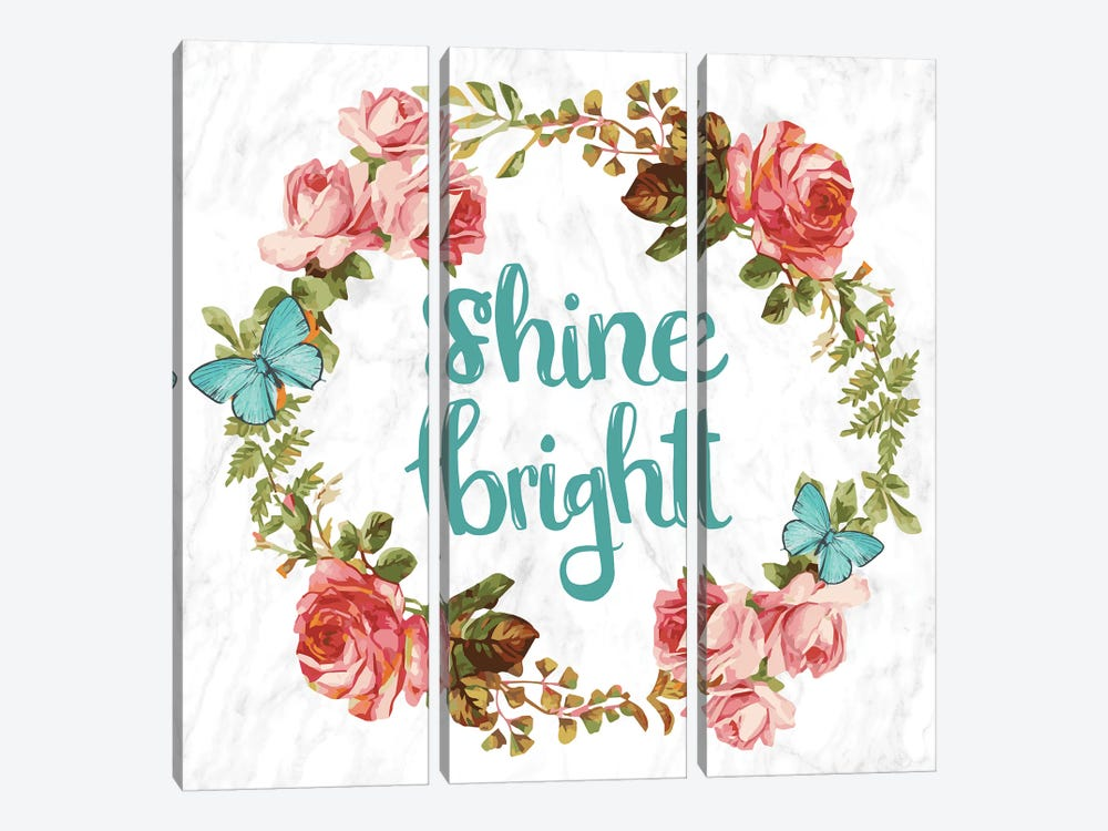 Shine Bright 3-piece Canvas Art Print