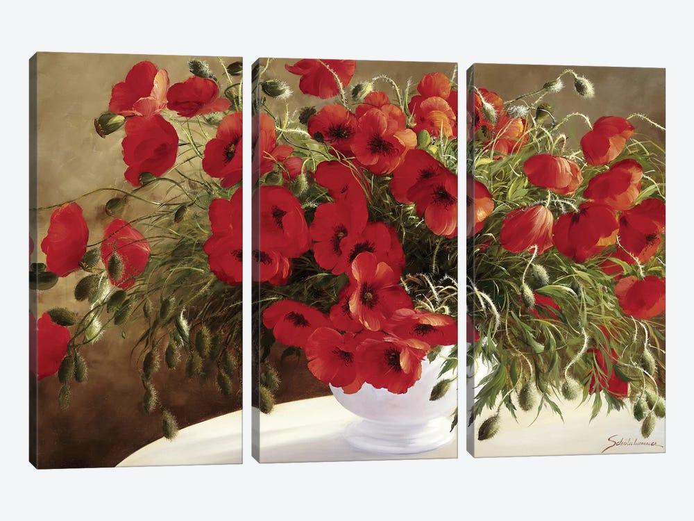 A Lovely Bouquet by Heinz Scholnhammer 3-piece Canvas Art