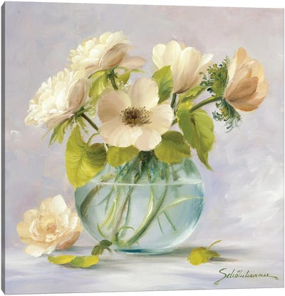 Yellow Anemones Canvas Art Print