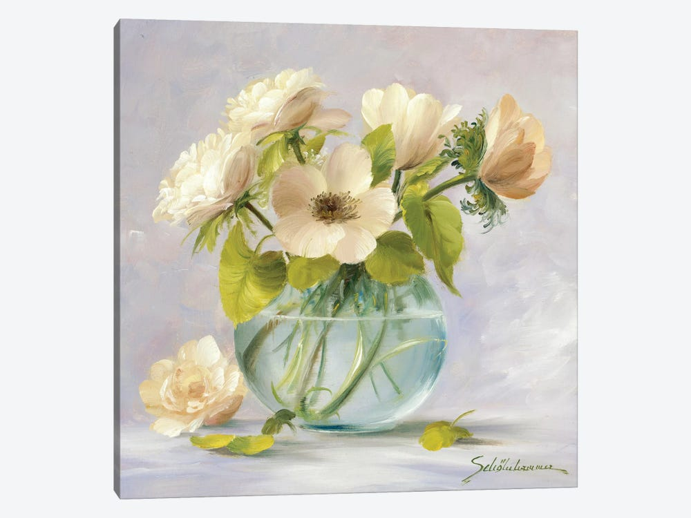Yellow Anemones by Heinz Scholnhammer 1-piece Canvas Wall Art