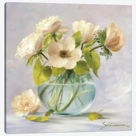 Yellow Anemones 3-Piece Canvas #INZ5} by Heinz Scholnhammer Canvas Art Print