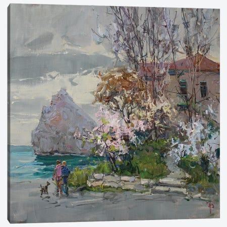 Spring Seaside Promenade Canvas Print #IPZ19} by Igor Pozdeev Canvas Wall Art