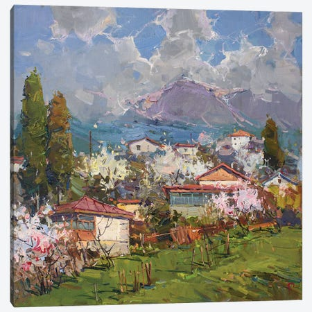 Village At The Foot Of Mountain Canvas Print #IPZ23} by Igor Pozdeev Canvas Art Print