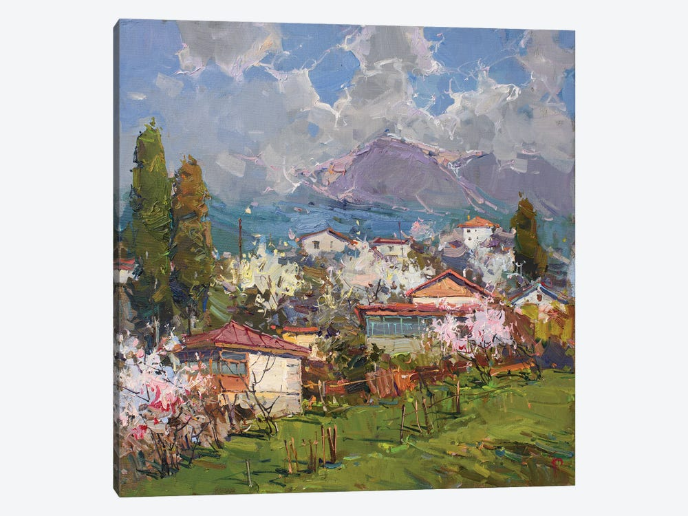 Village At The Foot Of Mountain by Igor Pozdeev 1-piece Canvas Print