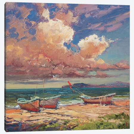 Fishing Boats In The Morning Canvas Print #IPZ7} by Igor Pozdeev Art Print