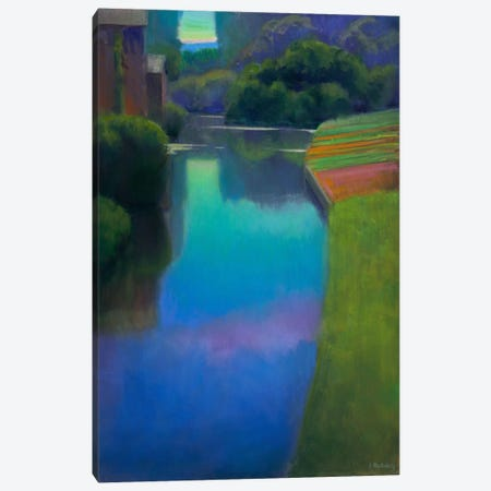 Dusk At Contevoir Canvas Print #IRO1} by Ian Roberts Canvas Art