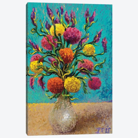 Freshly Painted Vase Canvas Print #IRS101} by Iris Scott Canvas Print