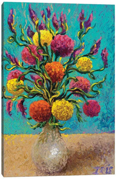 Freshly Painted Vase Canvas Art Print