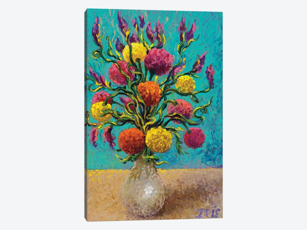 Freshly Painted Vase by Iris Scott 1-piece Canvas Art