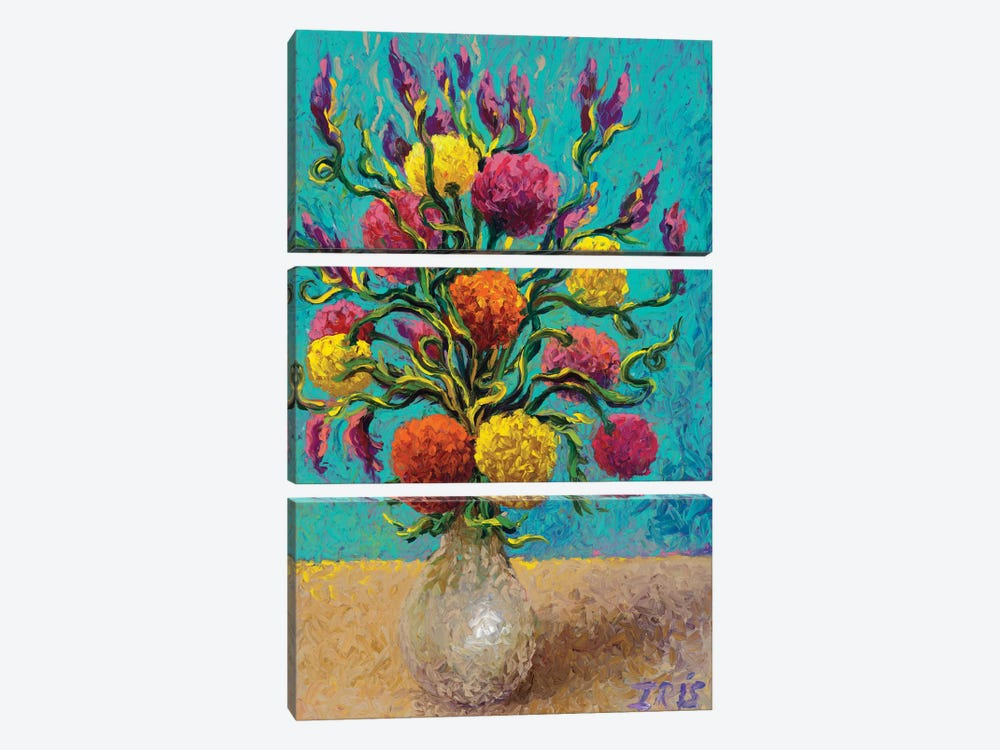 Freshly Painted Vase by Iris Scott 3-piece Canvas Wall Art