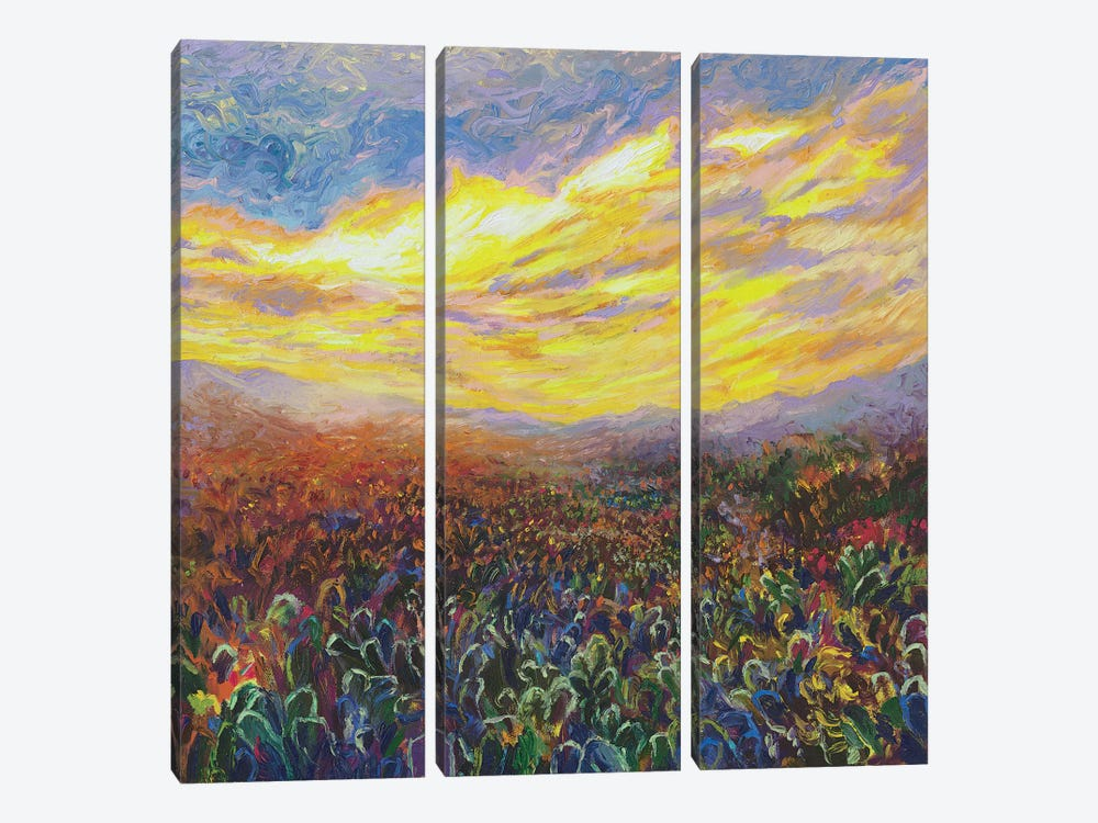Cacti Sunrise by Iris Scott 3-piece Art Print