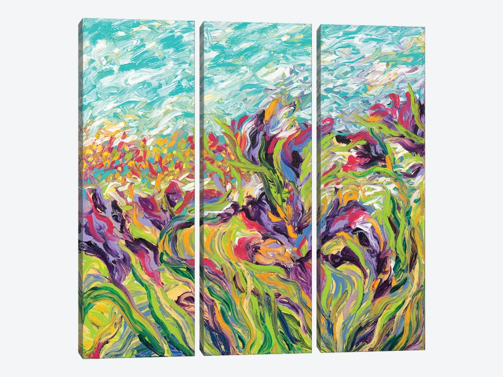 Irises I by Iris Scott 3-piece Art Print